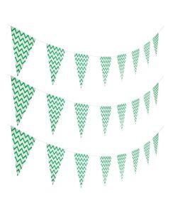 Mint Green Chevron Pennant Banner