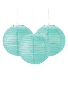 Mint Green Hanging Paper Lanterns