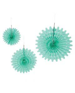 Mint Green Tissue Hanging Fans