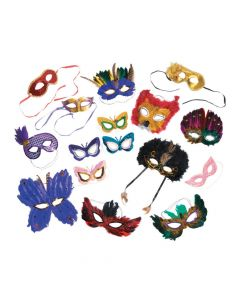 Mixed Mardi Gras Mask Assortment - 100 pc.