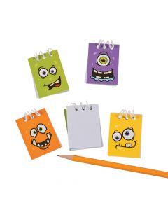 Monster Face Mini Spiral Notepads