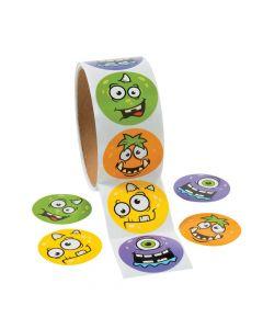 Monster Face Sticker Rolls