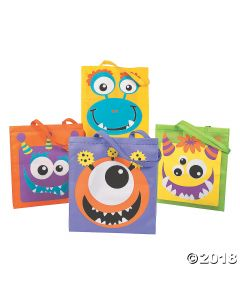 Monster Face Tote Bags