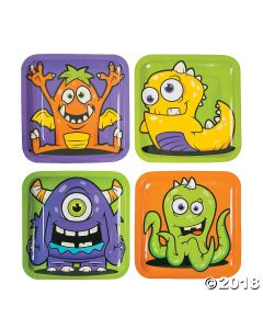 Monster Party Paper Dinner Plates