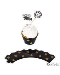 Movie Night Cupcake Wrappers with Picks