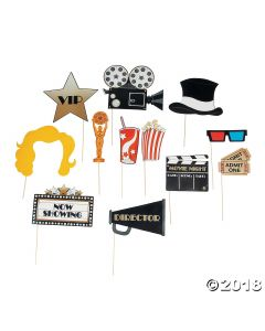 Movie Night Photo Stick Props