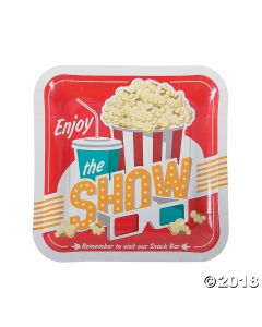 Movie Party Paper Dinner Plates