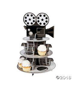 Movie Reel Cupcake Stand