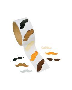 Mustache Sticker Rolls
