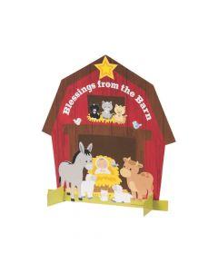 Nativity Barn Sticker Scenes