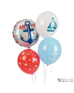 Nautical Baby Shower Balloon Set Assortment