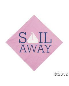 Nautical Girl Luncheon Napkins