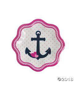 Nautical Girl Paper Dessert Plates