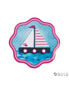 Nautical Girl Paper Dinner Plates