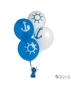 Nautical Latex Balloons