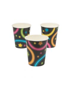 Neon Glow Party Paper Cups