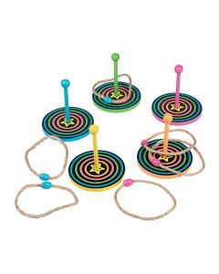 Neon Glow Party Ring Toss Game