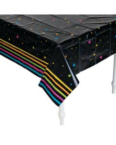 Neon Glow Party Tablecloth