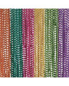 Neon Metallic Bead Necklaces