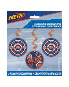 Nerf Hanging Swirl Decorations