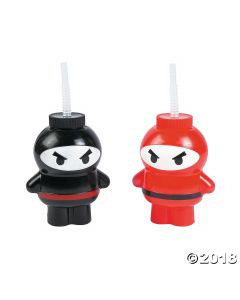 Ninja Cups with Straws