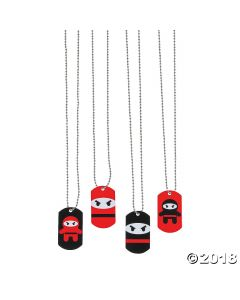 Ninja Dog Tag Necklaces