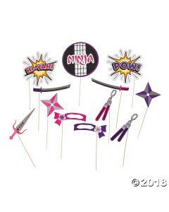 Ninja Girl Photo Stick Props