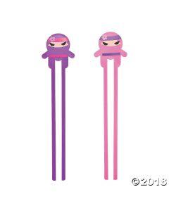 Ninja Girl Plastic Chopsticks
