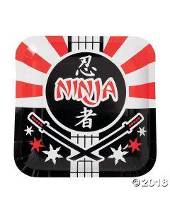 Ninja Warrior Paper Lunch Plates
