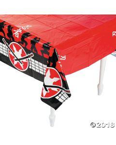 Ninja Warriors Plastic Tablecloth