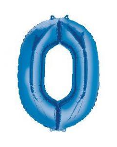 Number 0 Blue Supershape Foil Balloon