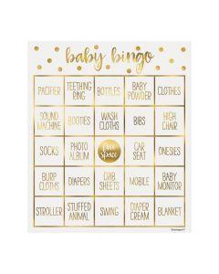 Oh Baby Gold Bingo Game
