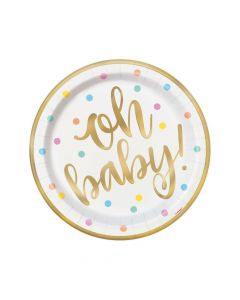Oh Baby Paper Dinner Plates