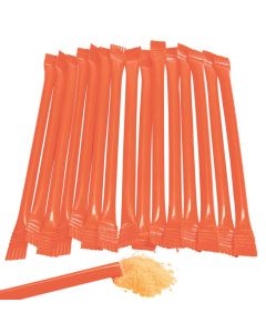 Orange Candy-Filled Straws