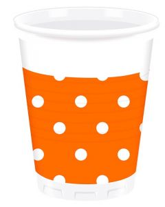 Orange Dots Plastic Cup