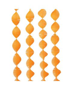 Orange Fringe Streamer