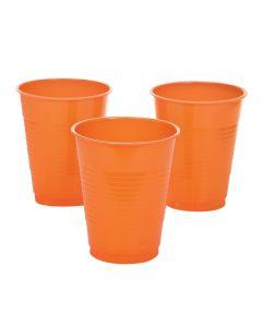 Orange Plastic Tumblers