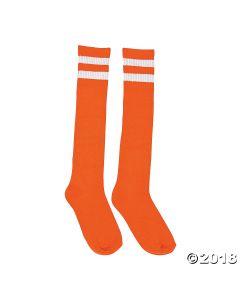 Orange Team Spirit Knee-high Socks