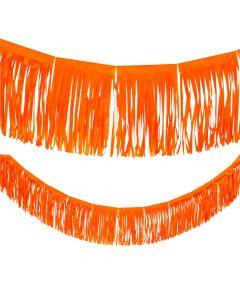 Orange Tissue Fringe Garland