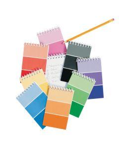 Paint Chip Spiral Notepads