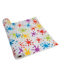 Paint Splatter Plastic Tablecloth Roll