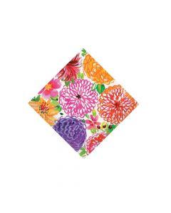 Painted Spring Floral Beverage Napkins