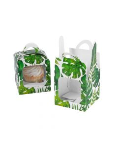 Palm Leaf Cupcake Boxes with Handle