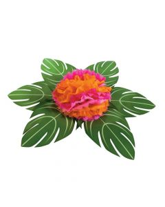 Palm Leaf Table Decor with Flower