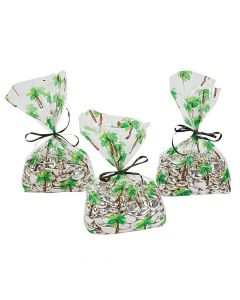 Palm Tree Goody Cellophane Bags