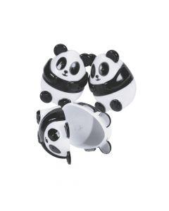 Panda Plastic Easter Eggs - 12 Pc.