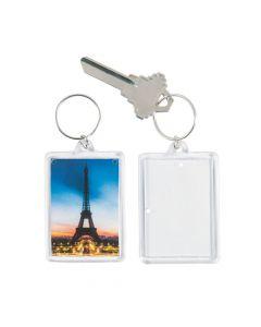 Paris Theme Picture Frame Keychains