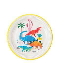 Party Dinosaur Paper Dinner Plates
