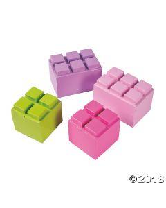 Pastel Colour Brick Centerpieces