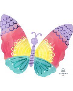 Pastel Tie Dye Butterfly Junior Shape Balloon